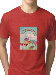 Tulips & Rainbows Tri-blend T-Shirt