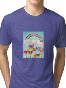 Tulips & Rainbows Tri-blend T-Shirt