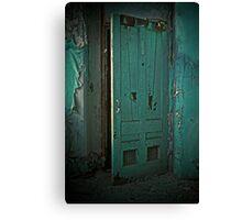Aqua Door Canvas Print