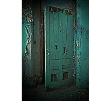 Aqua Door Photographic Print