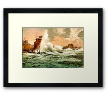 A Rough sea, Bognor Regis, West Sussex, England Framed Print