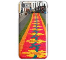 Making flower carpets iPhone Case/Skin