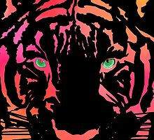 Tiger Tiger Burning Bright by UncleFrogface