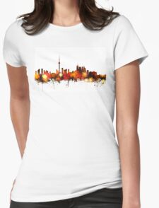 Toronto Canada Skyline Womens Fitted T-Shirt