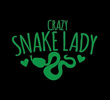CRAZY Snake lady by jazzydevil