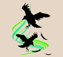 Crows in flight Womens Fitted T-Shirt