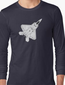 F 22 Stealth Fighter Jet Long Sleeve T-Shirt