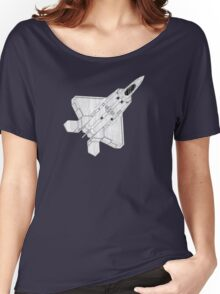 F 22 Stealth Fighter Jet Women's Relaxed Fit T-Shirt