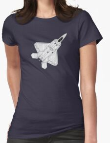 F 22 Stealth Fighter Jet Womens Fitted T-Shirt