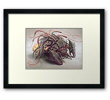 Red Whip Thresher Framed Print