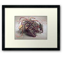 Red Whip Thresher Framed Print