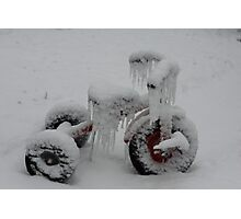 Tricycle's Icicles Photographic Print