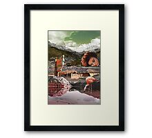 Motel Flamingo  Framed Print