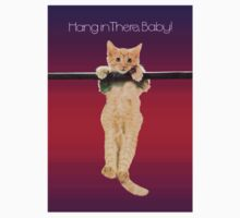 Hang In There Baby Kitten One Piece - Long Sleeve