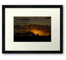 Last Sunset before Super Bowl Framed Print