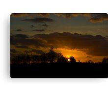 Last Sunset before Super Bowl Canvas Print