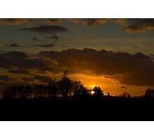 Last Sunset before Super Bowl Photographic Print