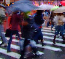 Wet Umbrellas by Anthony Jalandoni
