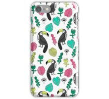 Tropical Rainforest - Pink and Green by Andrea Lauren iPhone Case/Skin
