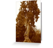 Angel Grave in Sepia Greeting Card