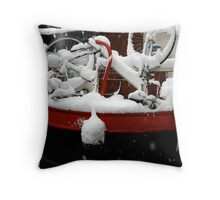 Snow Bike Throw Pillow