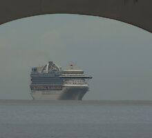 cruiser at a hazy day - crucero en un día calinoso by Bernhard Matejka