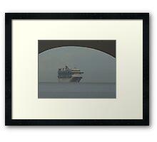 cruiser at a hazy day - crucero en un día calinoso Framed Print