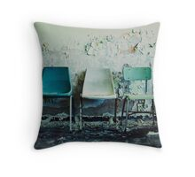 3 Chairs Throw Pillow