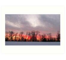 Sunset at the Ledges Art Print