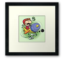 Saving the Princess from Exploding Turtles Framed Print