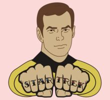 Star Trek Fist Tattoos Kids Tee