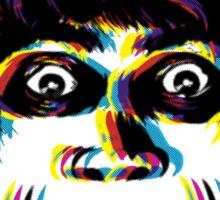 Dr. CMYK -Caligari Head Sticker