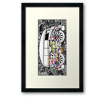 Volkswagen Van Sticker Bomb Framed Print