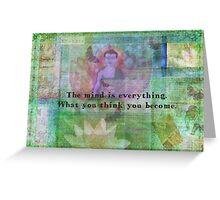 Buddha Quotation Motivational Greeting Card