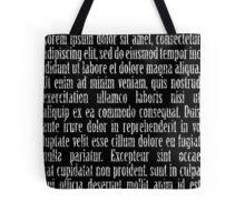 Lorem ipsum reversed Tote Bag