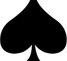 Spade Card Suite by retromoomin