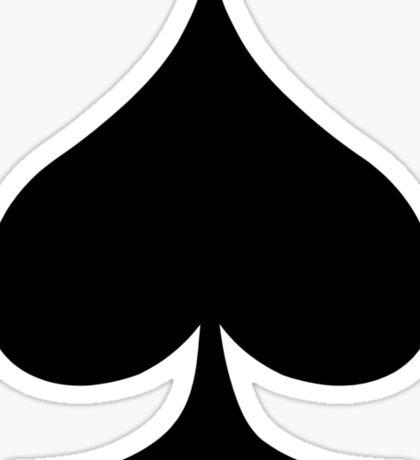 Spade Card Suite Sticker