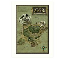 Arelith Map Art Print