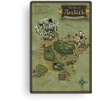 Arelith Map Canvas Print
