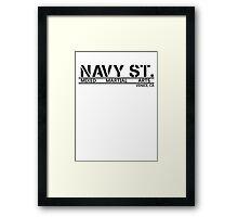 Navy Street  Framed Print