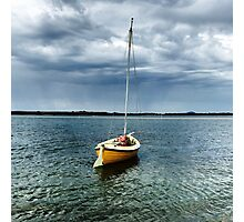 Boat at Shallow Inlet Photographic Print