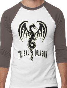 Tribal dragon Men's Baseball ¾ T-Shirt