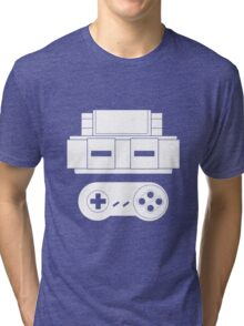 Let's Play SNES (White Tri-blend T-Shirt