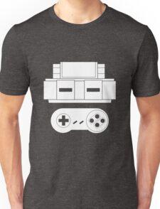 Let's Play SNES (White Unisex T-Shirt