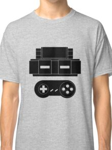 Let's Play SNES (Black) Classic T-Shirt