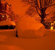Snowy Forecourt by DonDavisUK