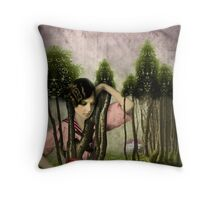 In the park Throw Pillow