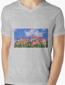 Tulips Galore Mens V-Neck T-Shirt