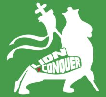 LION CONQUER WHITE Kids Tee