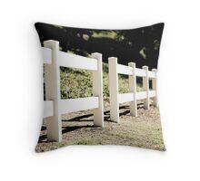 White Fence Throw Pillow